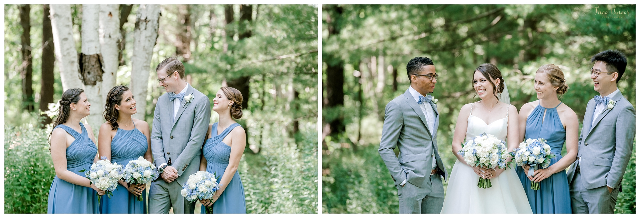 Gender Neutral Maine Wedding Party Portraits