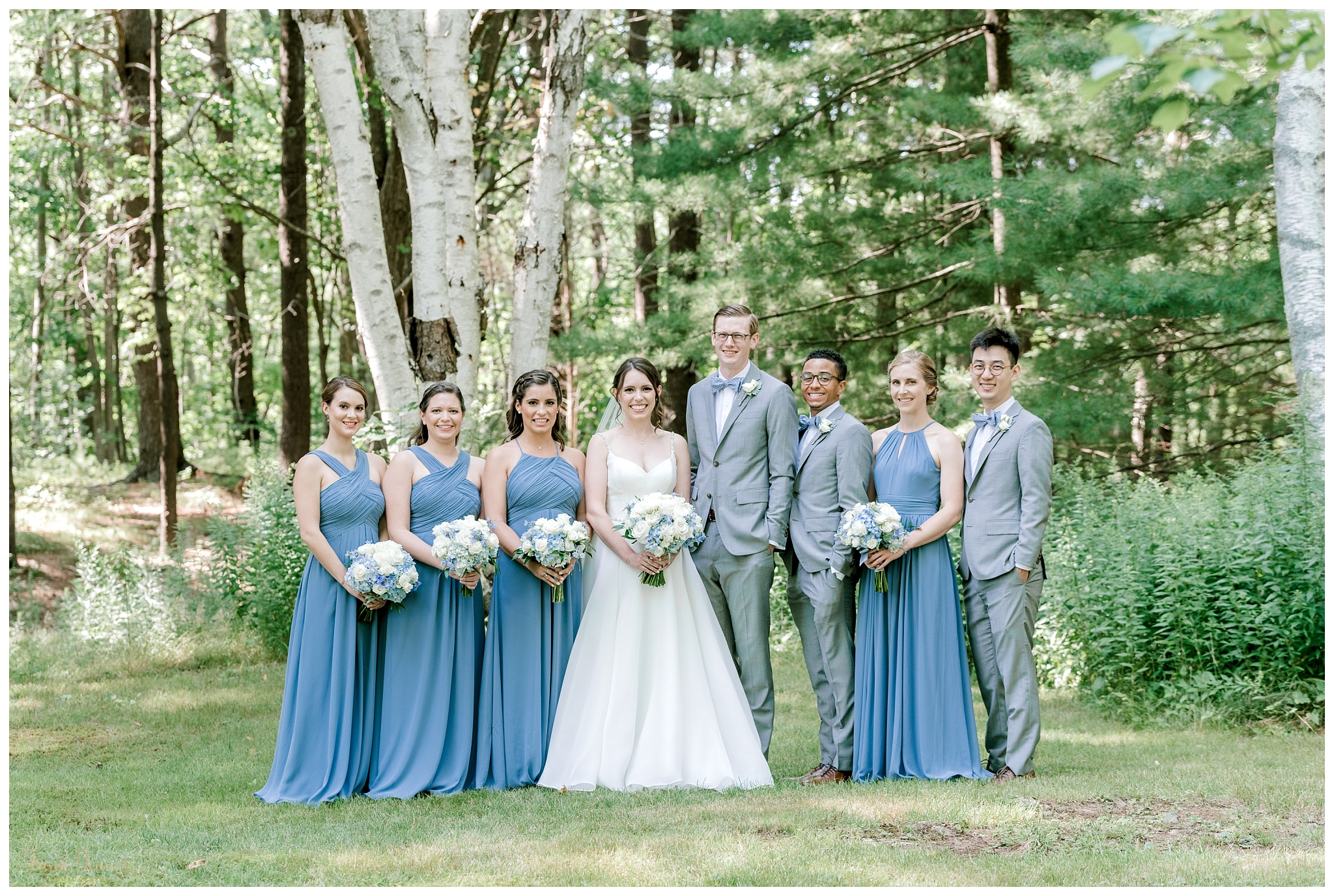 York Maine Wedding Party Portrait Photography