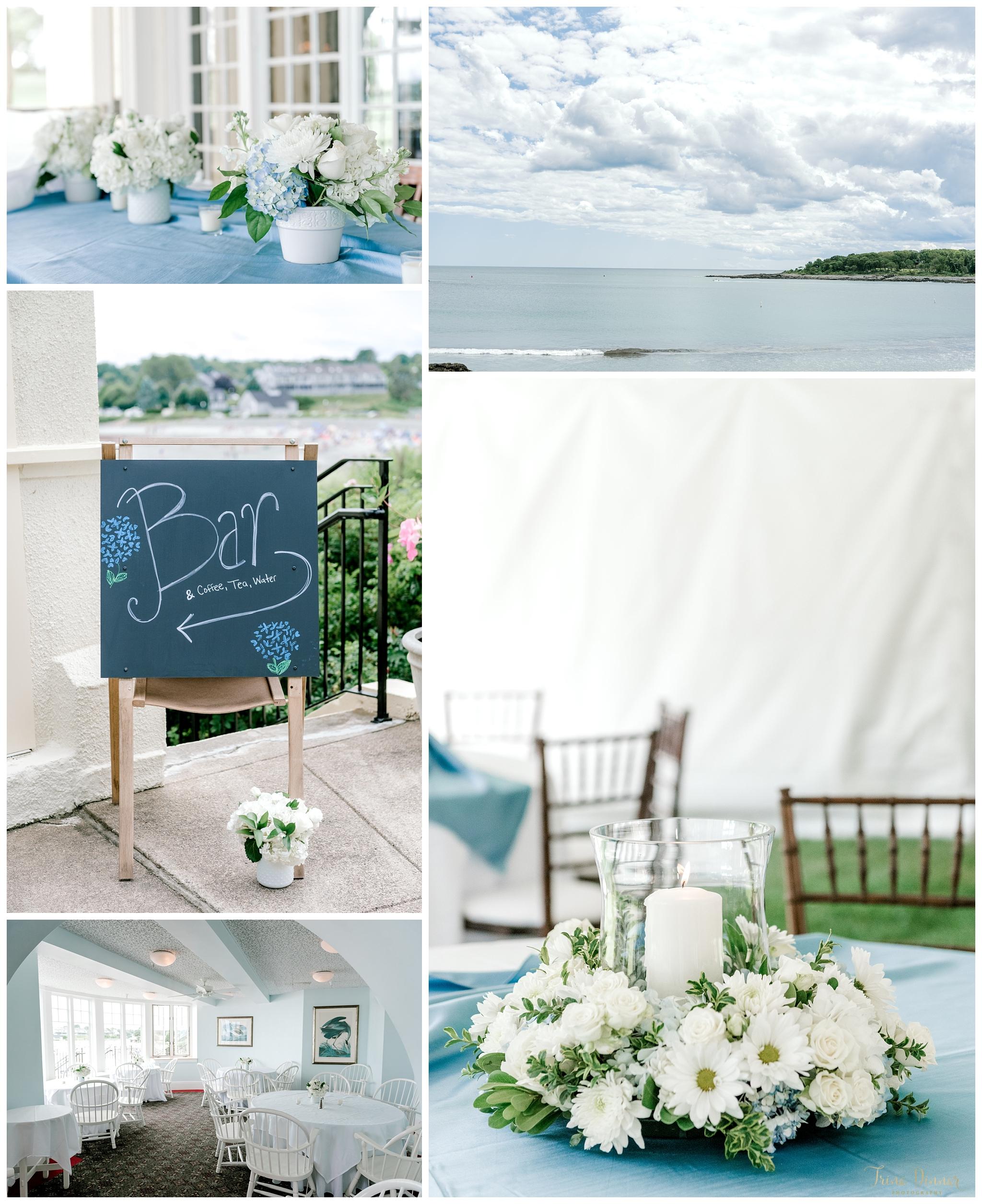 York Harbor Maine Beach Wedding at the York Harbor Reading Room