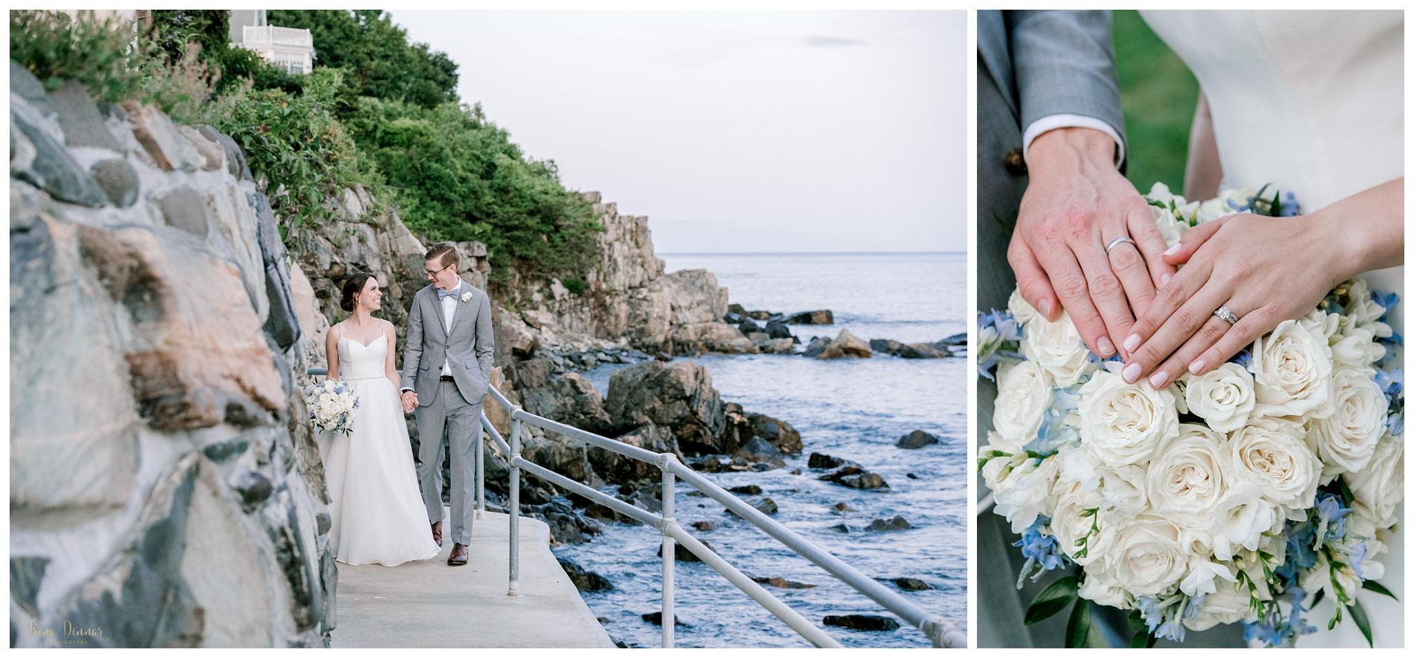 Fishermen's Walk York Harbor Beach Wedding