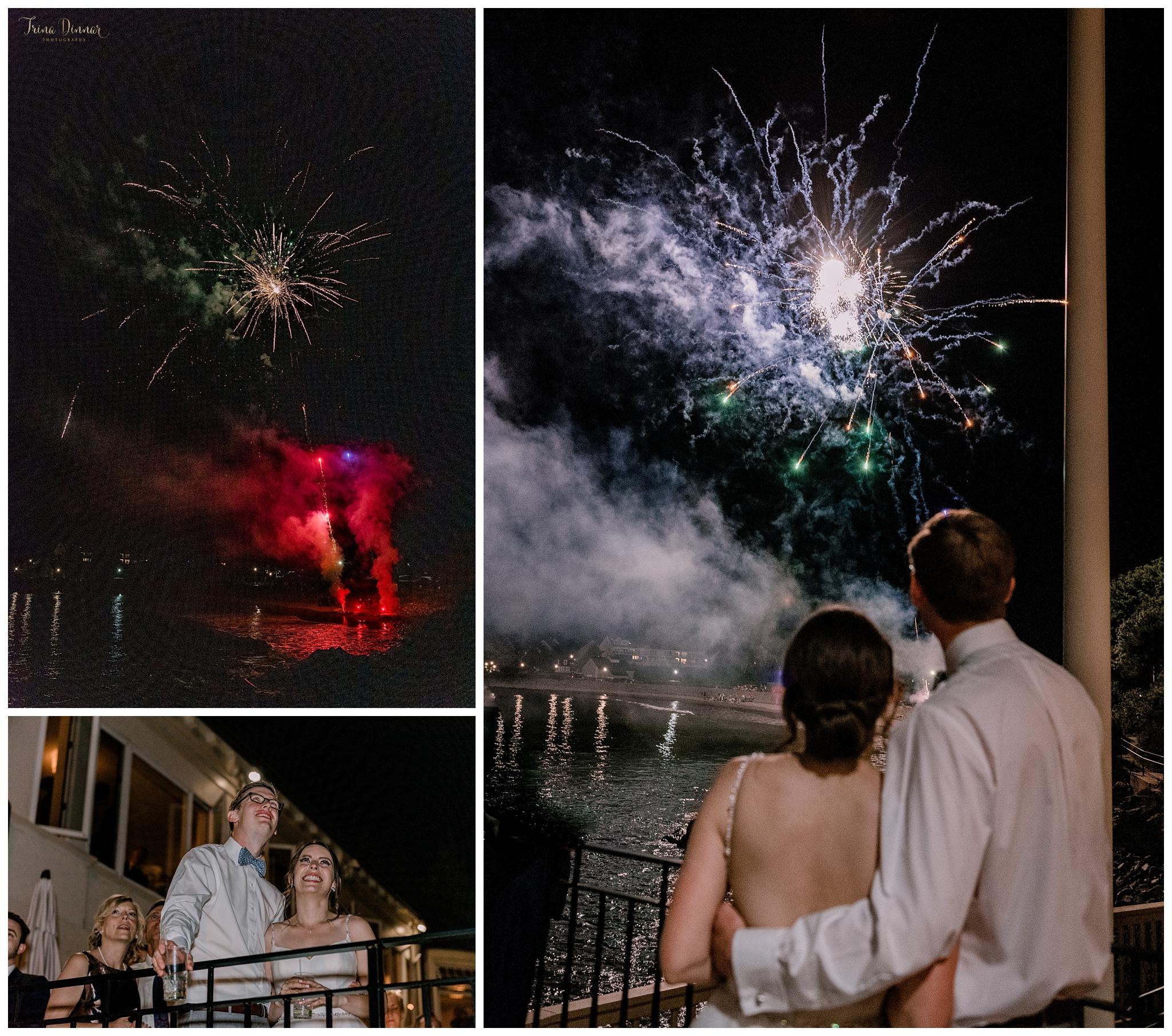 York Maine Wedding Fireworks Show
