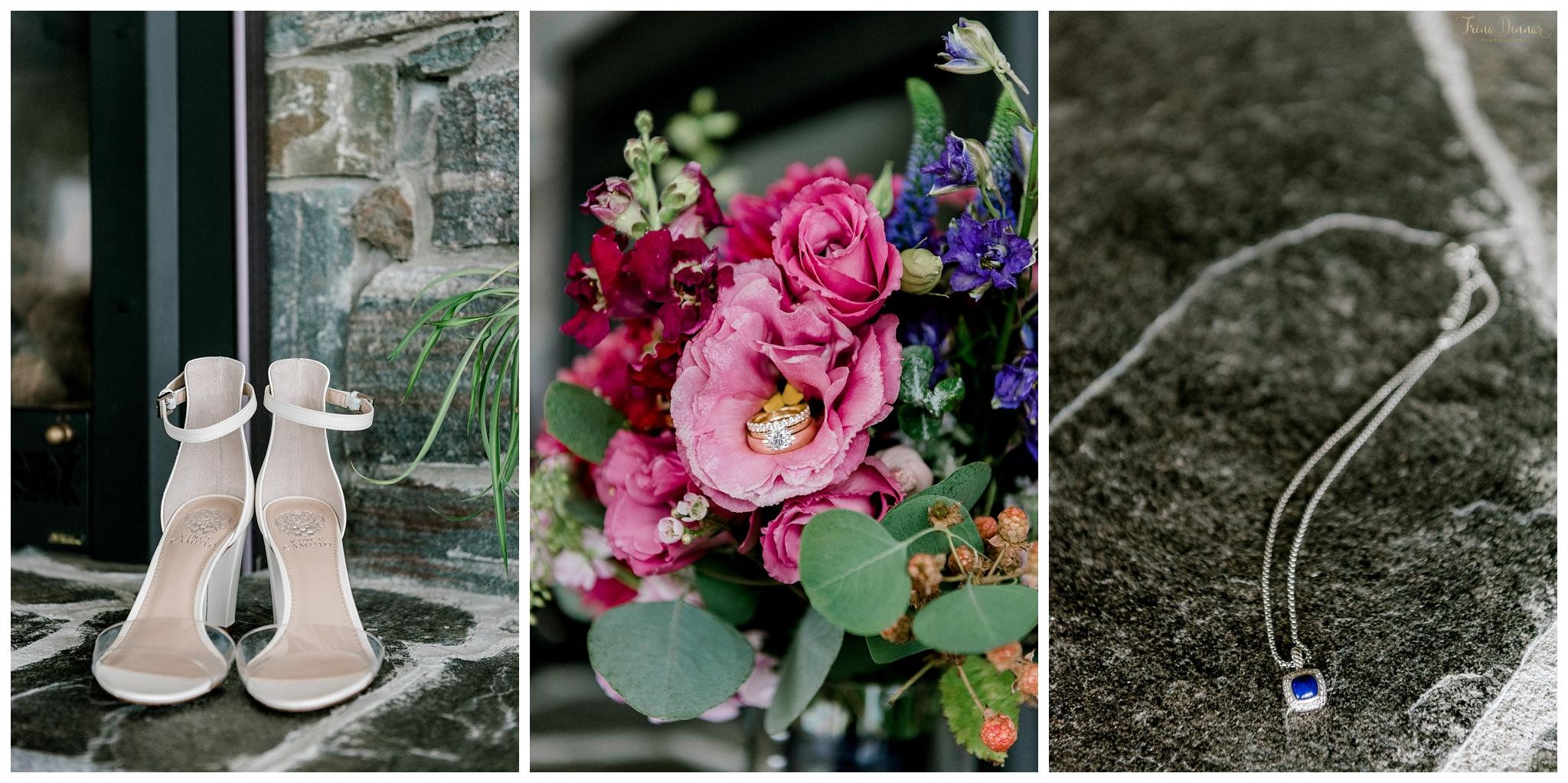 Dramatic Wedding Detail Photo Collage