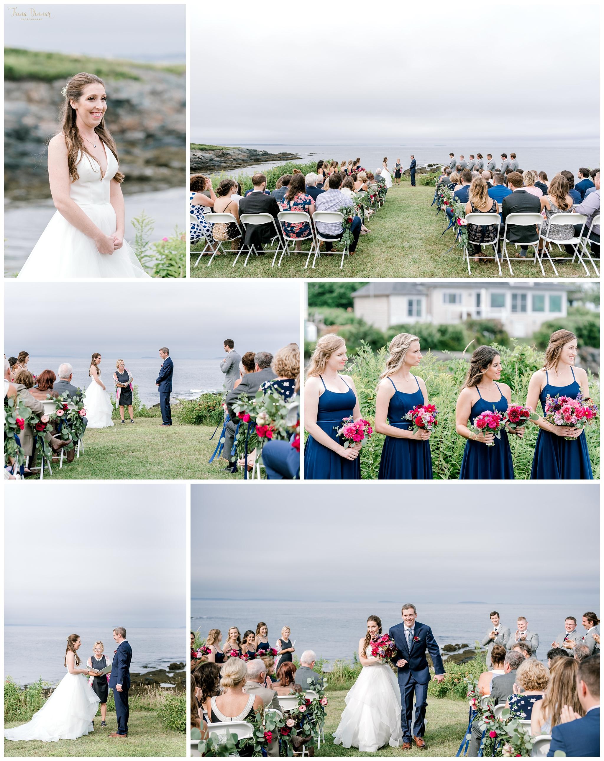 Maine Wedding Ceremony Photography Cape Elizabeth