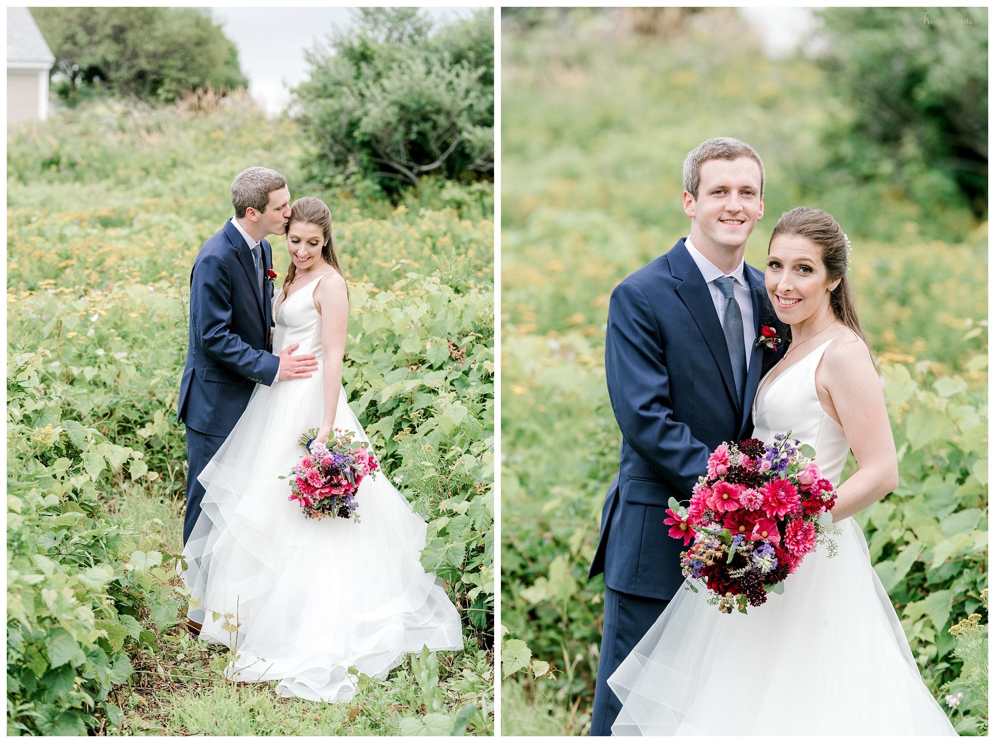 Hannah and Michael's Maine Garden Wedding Photos