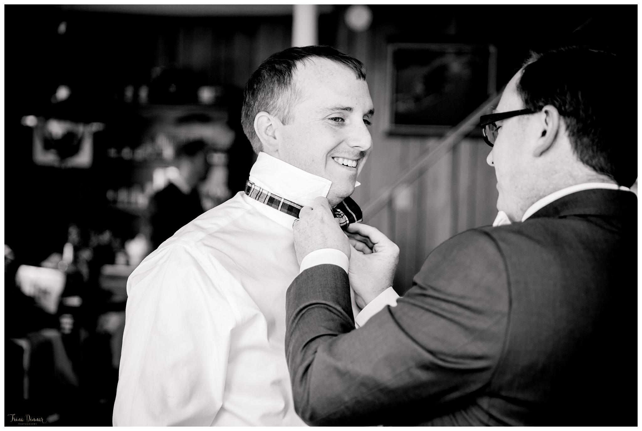 Dan Getting Ready for Wedding