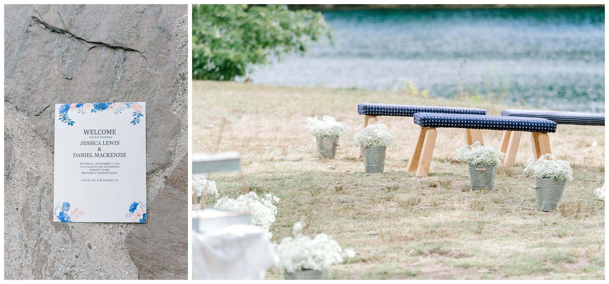 Boothbay Harbor Barrett Park Wedding Ceremony