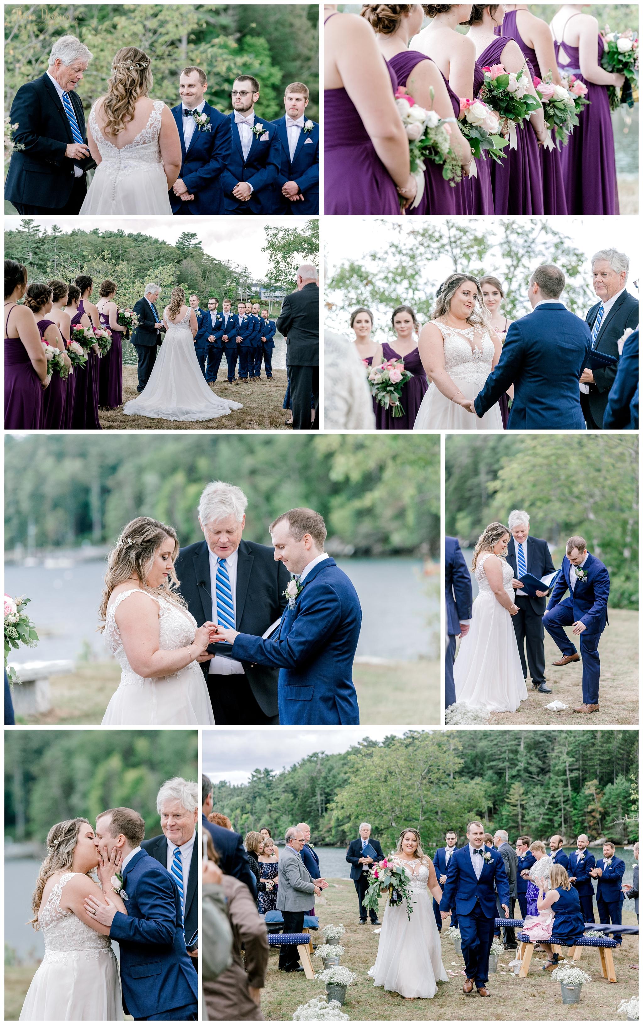 Barrett Park Boothbay Harbor Wedding Ceremony