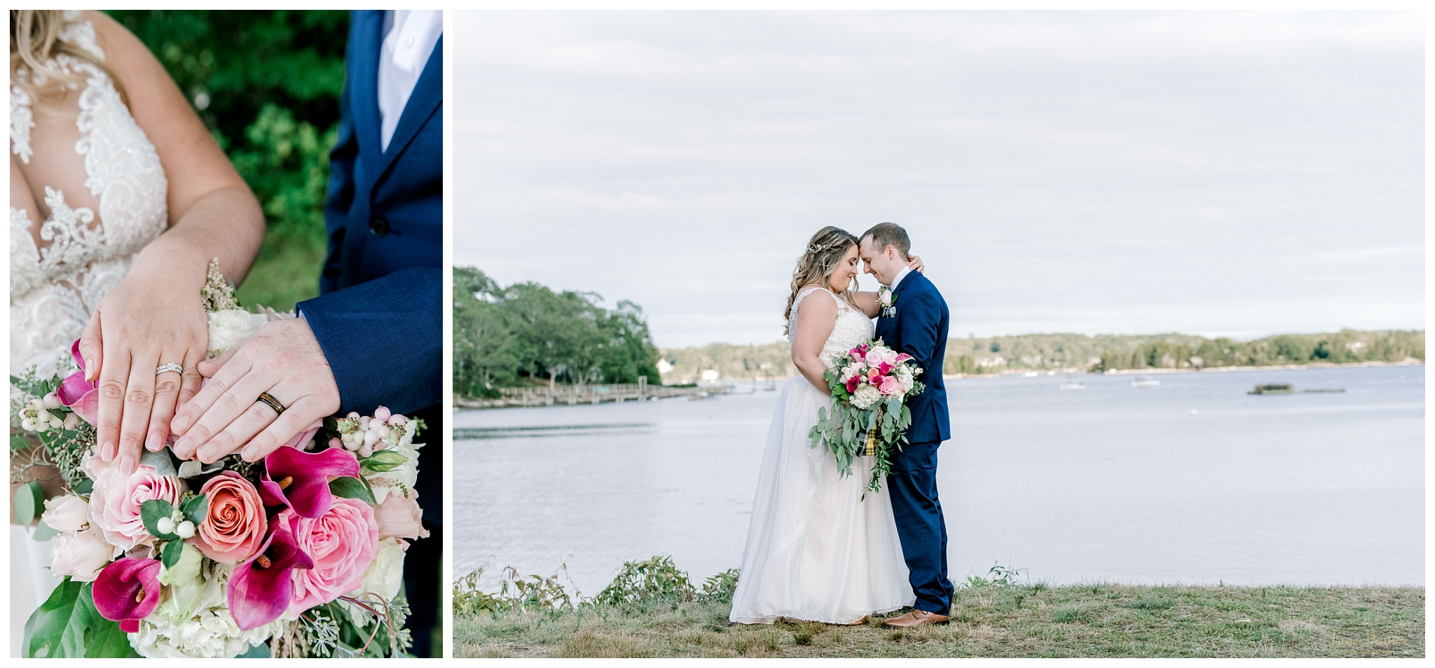 Maine Wedding Portraits at Barrett Park Boothbay ME
