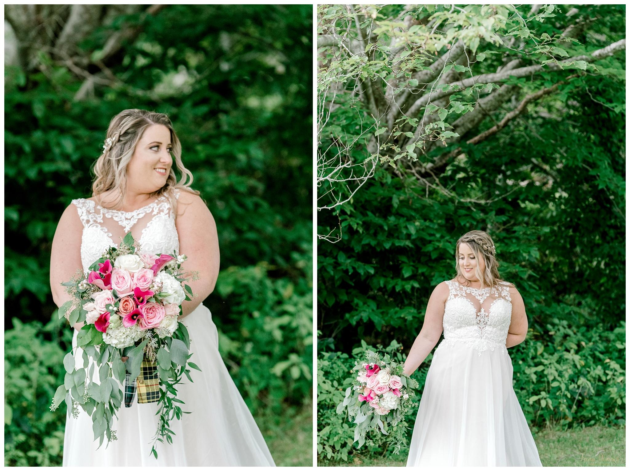 Barrett Park Boothbay Wedding Bridal Photos