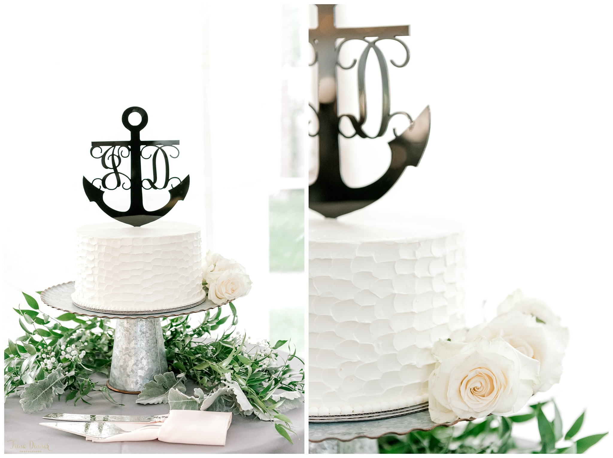 Nautical Maine Wedding Cake by Landry's Confections