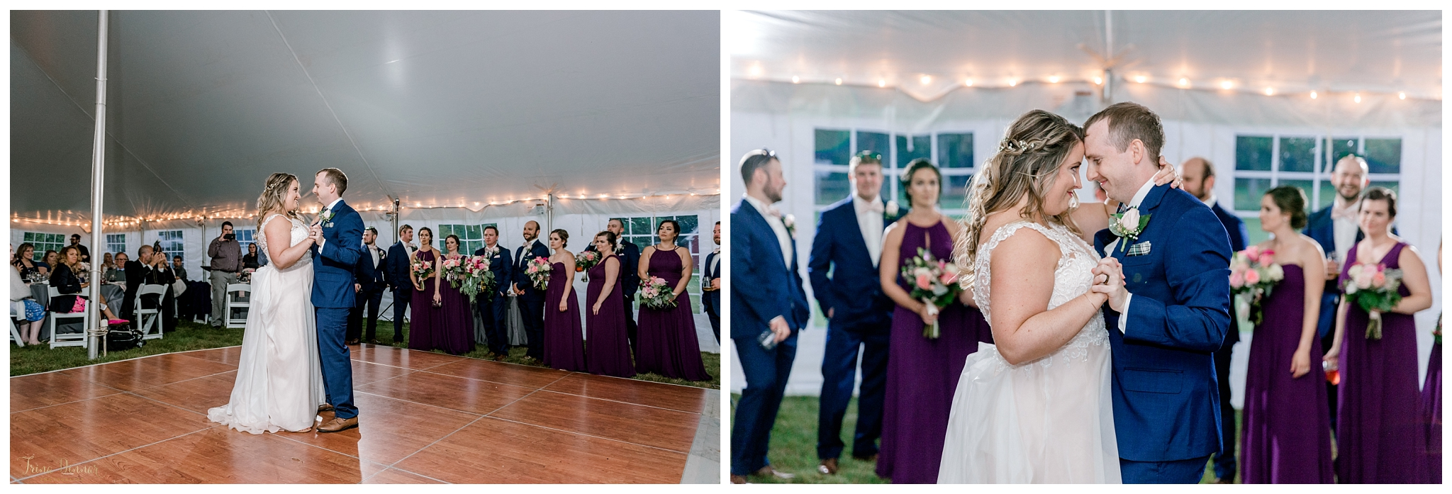 Jess and Dan's First Dance at Boothbay Railway Village Wedding