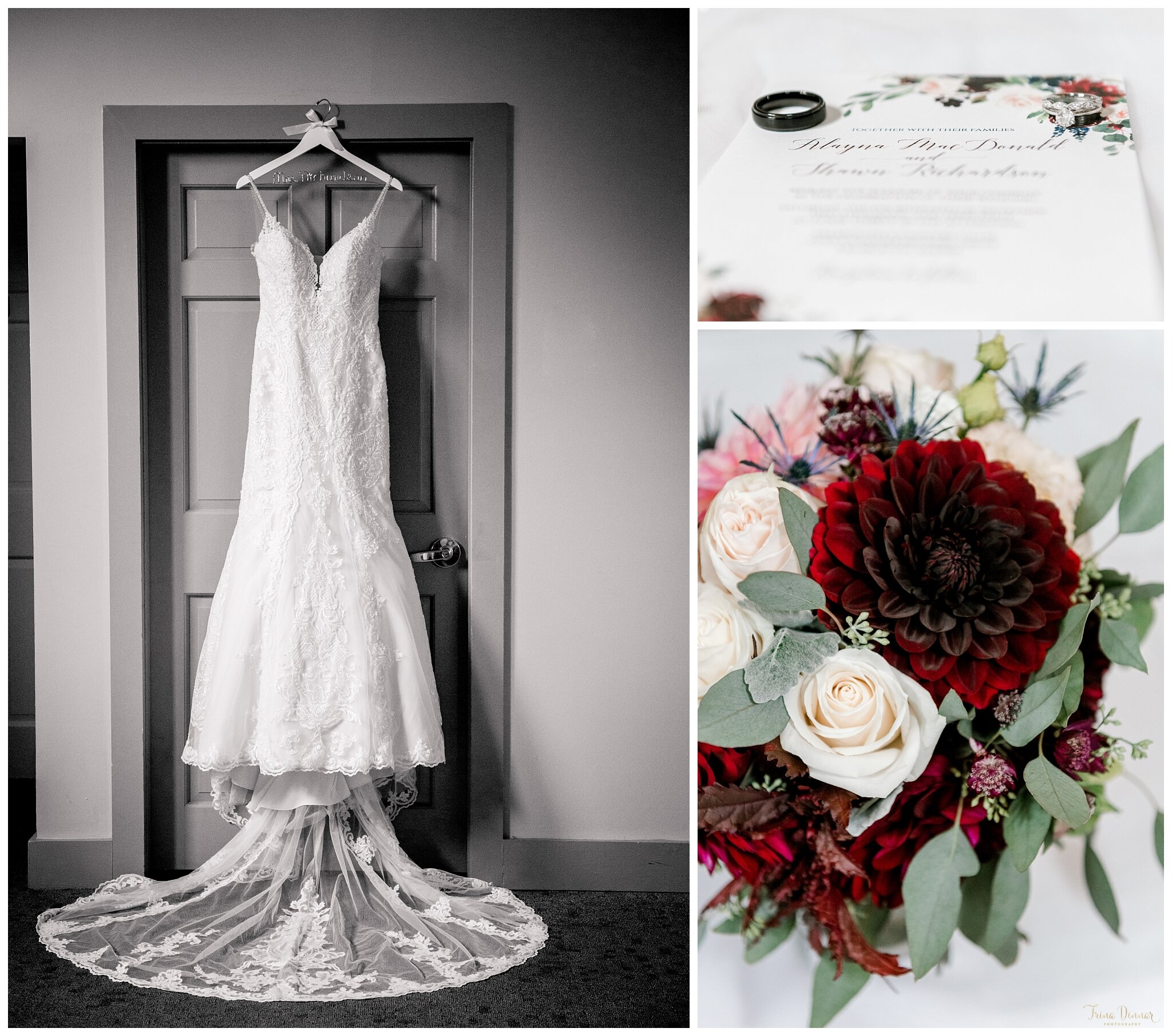 Classic Black and White Wedding Dress by Blush Bridal in Portland, Maine
