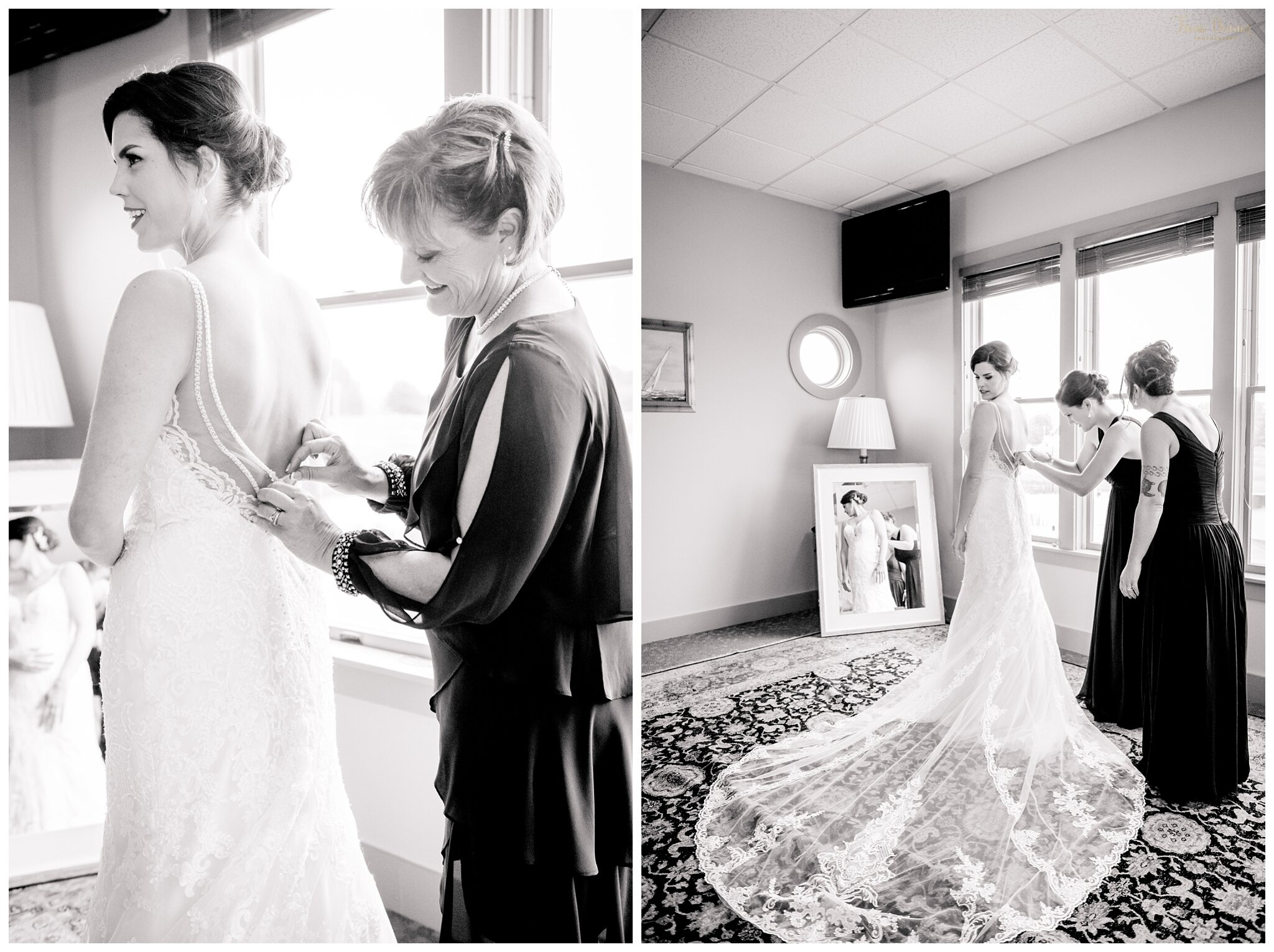 Alayna Getting Ready for Falmouth Maine Wedding