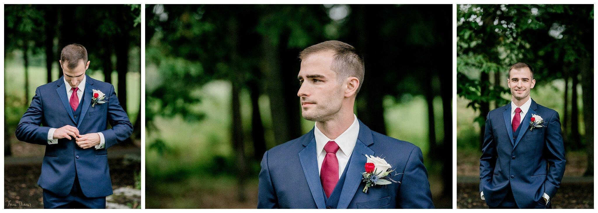 Maine Groom Wedding Day Portraits
