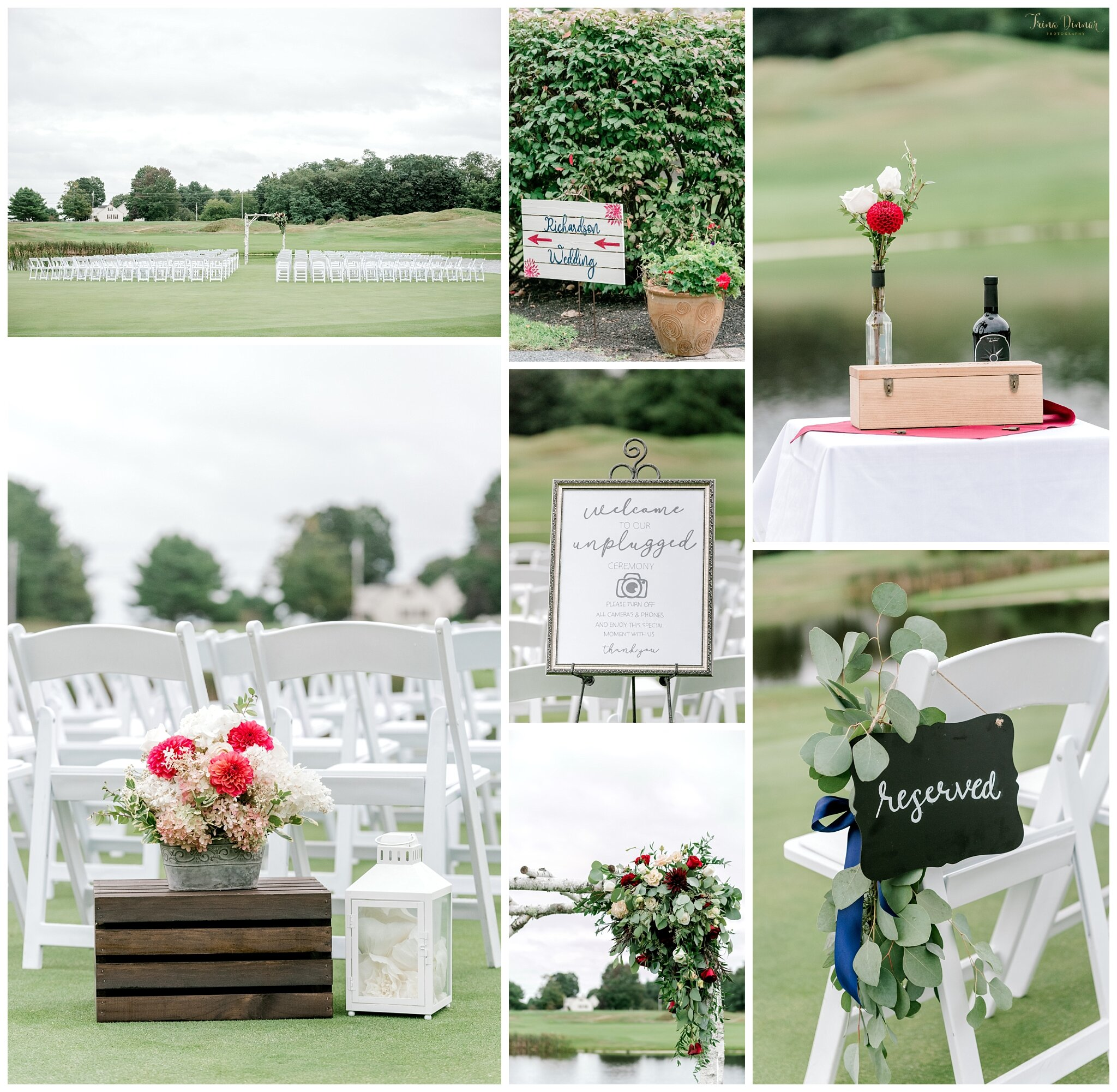 Maine Wedding Ceremony at the Falmouth Country Club.