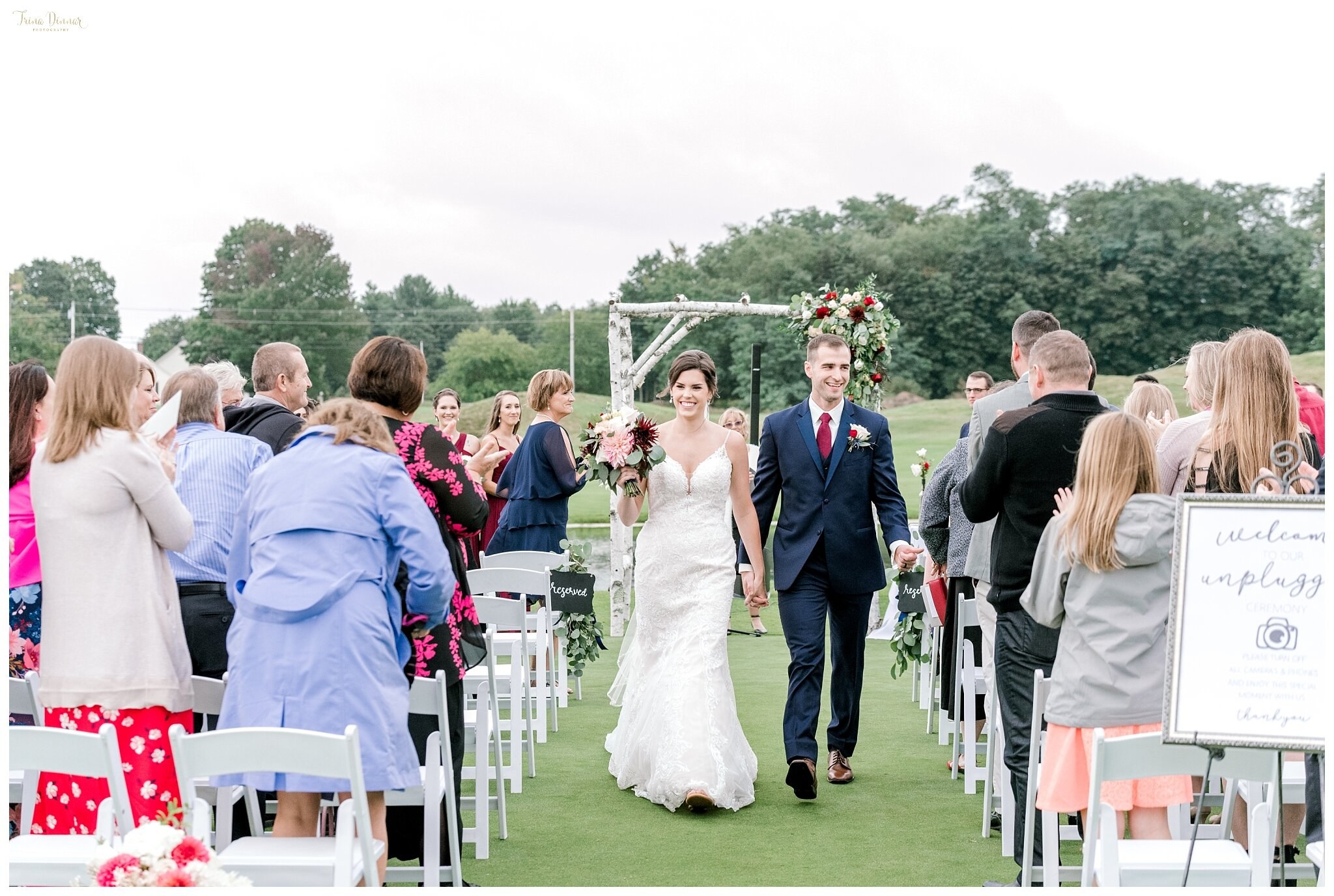 Alayna and Shawn married at the Maine Falmouth Country Club.