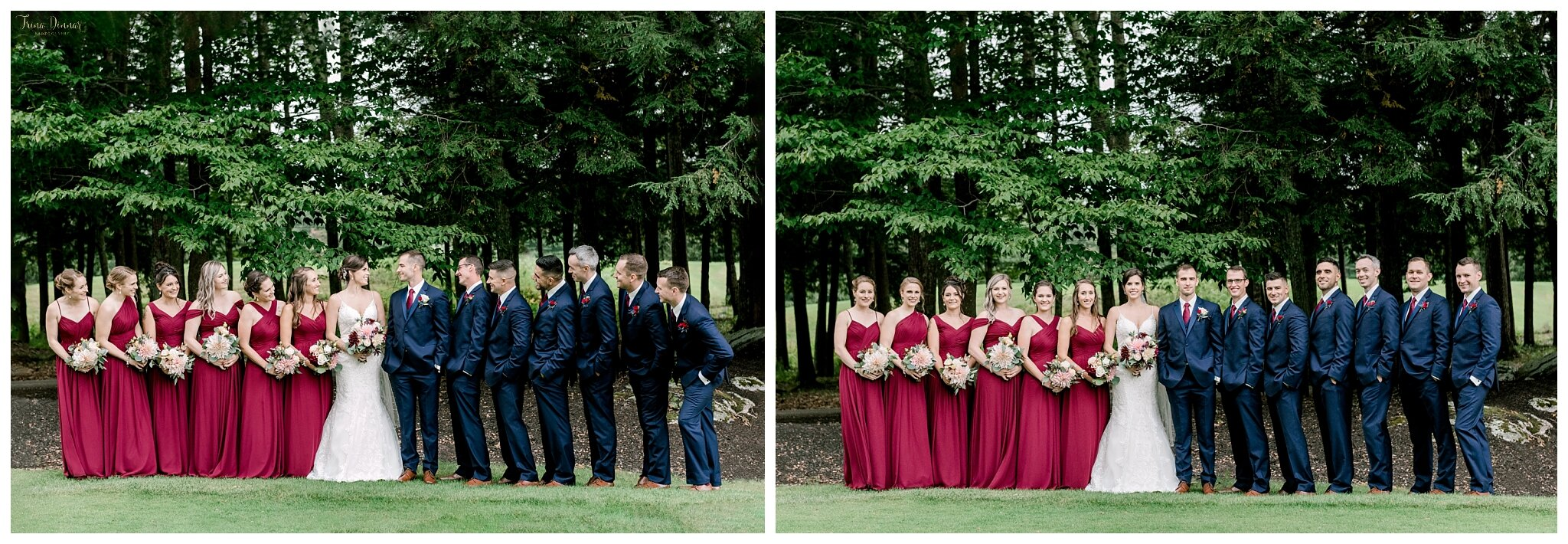 Wedding Party Portraits at the Falmouth Country Club.
