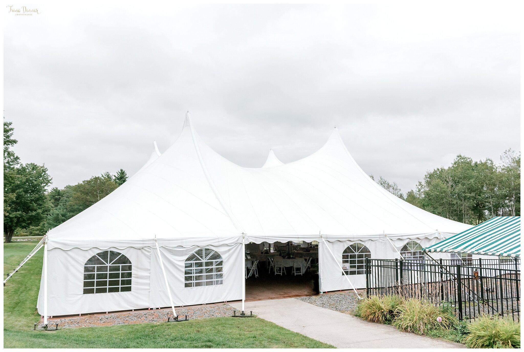 Wedding Reception Tent at Falmouth CC
