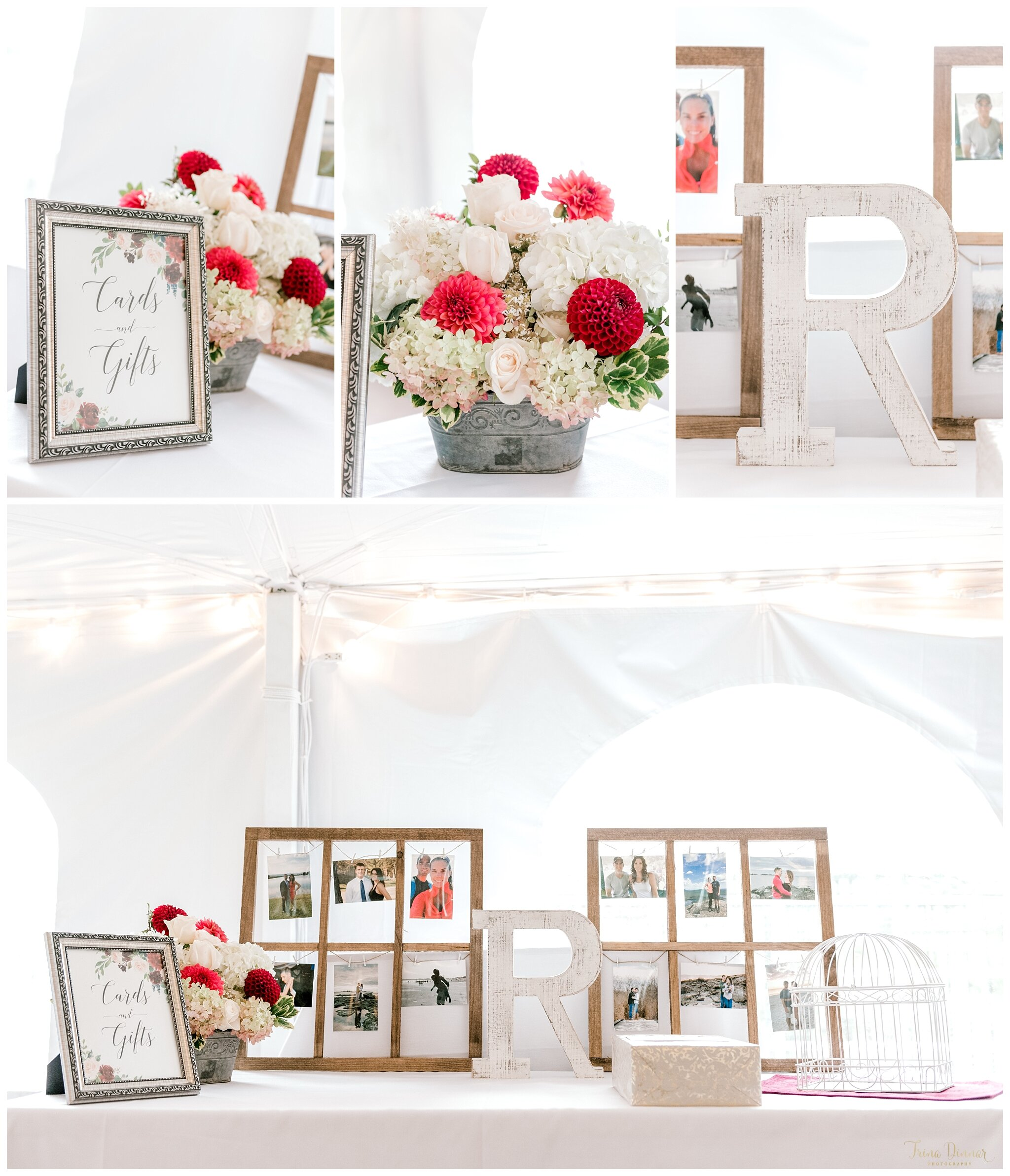 Tented Falmouth Maine Wedding Reception Decor