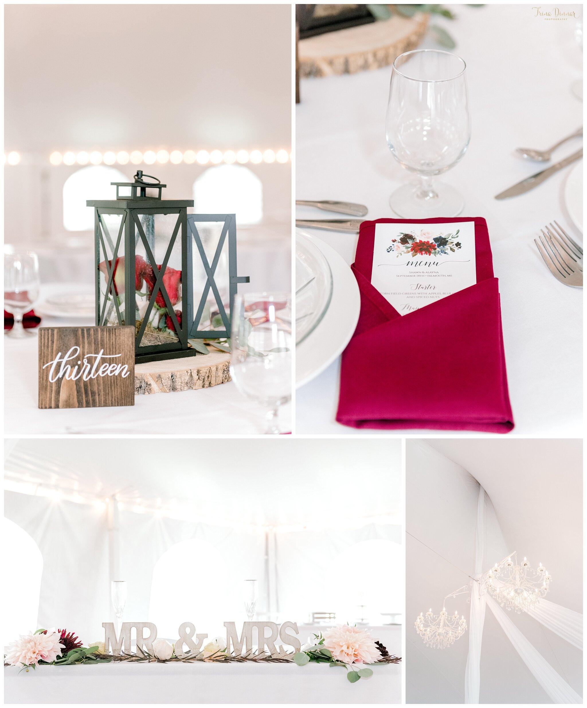 Falmouth Maine Tented Wedding Reception Venue