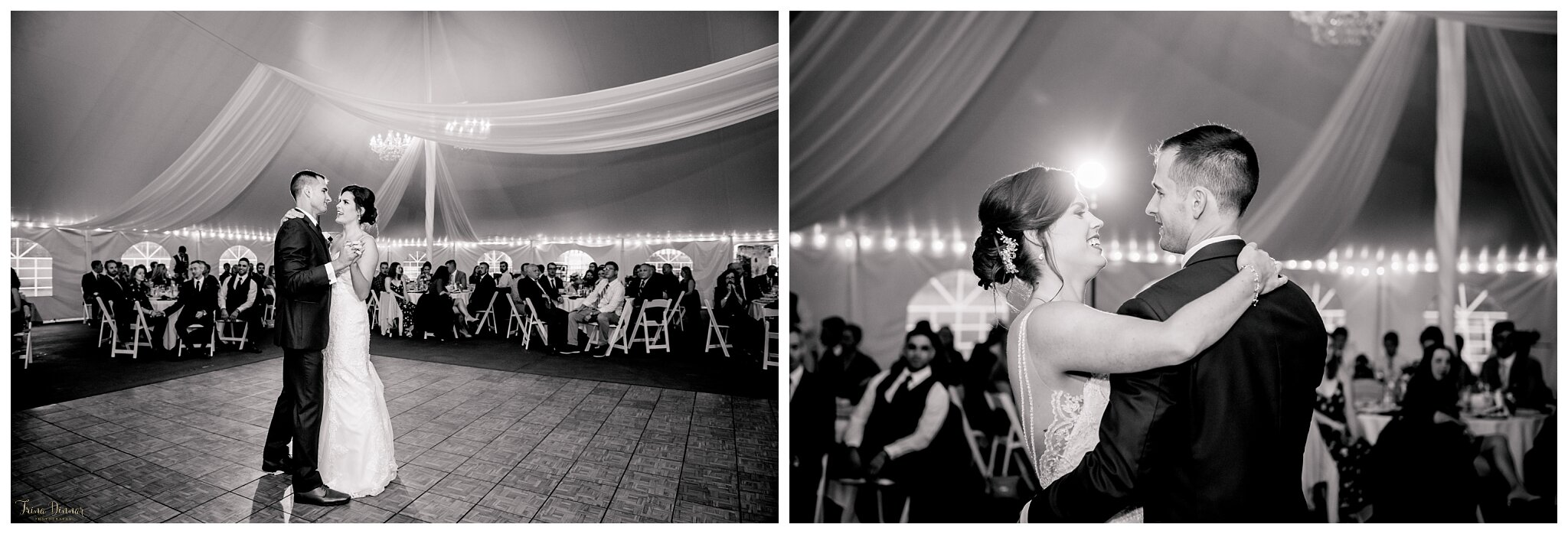 First Dance during a Falmouth Country Club Wedding in Falmouth, Maine.