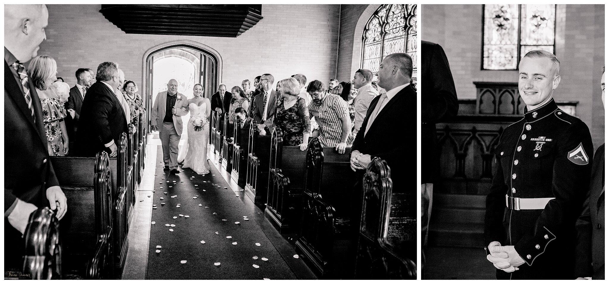 Danielle and Tyler's Portland Maine Samuel Wilde Memorial Chapel Wedding