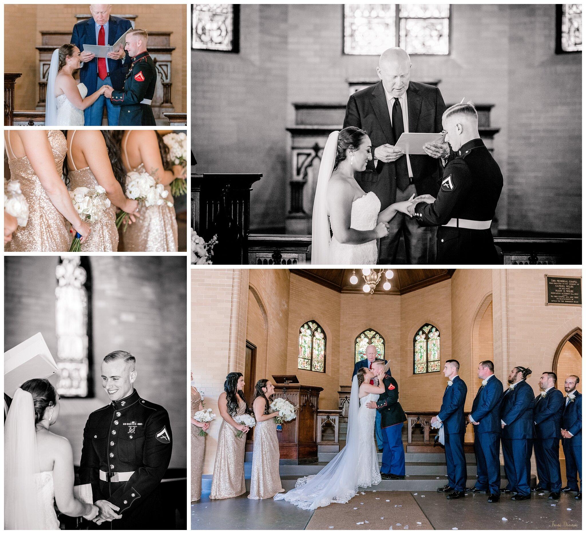 Wilde Memorial Chapel Portland Maine Wedding Ceremony at Evergreen Cemetery