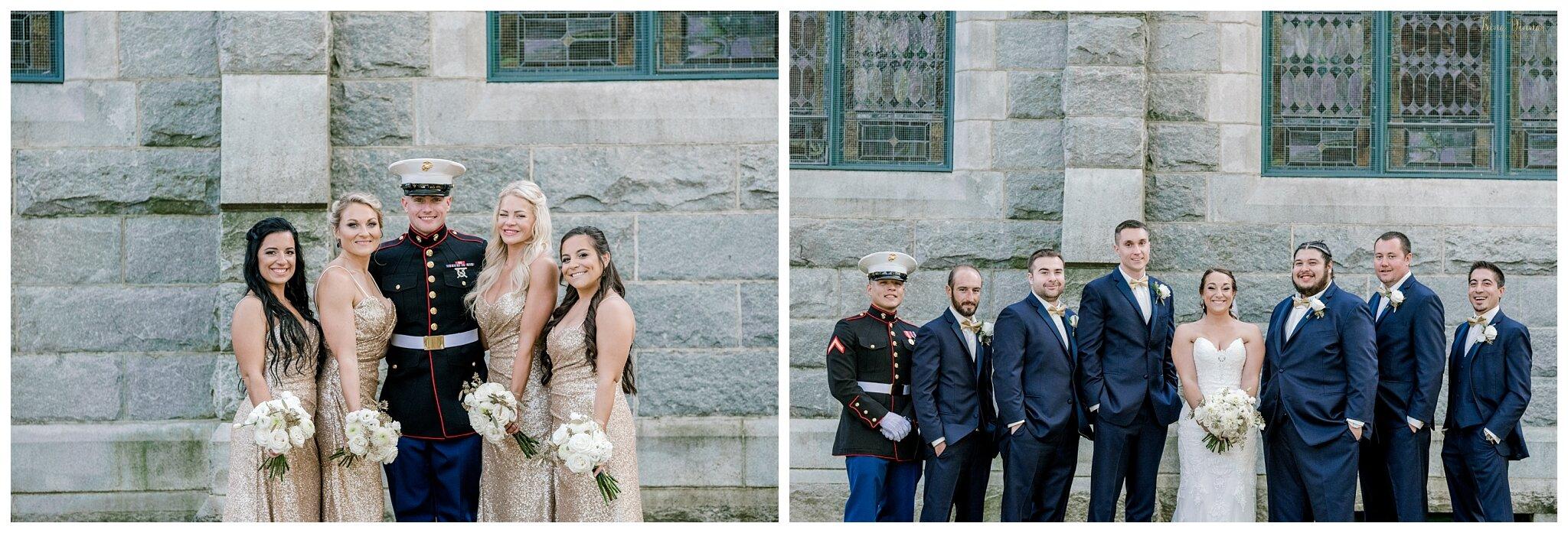 Military Portland Maine Wedding Party
