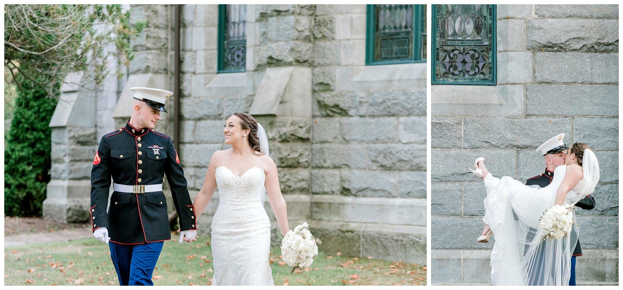 Military Wilde Memorial Evergreen Cemetery Portland Maine Wedding Photos