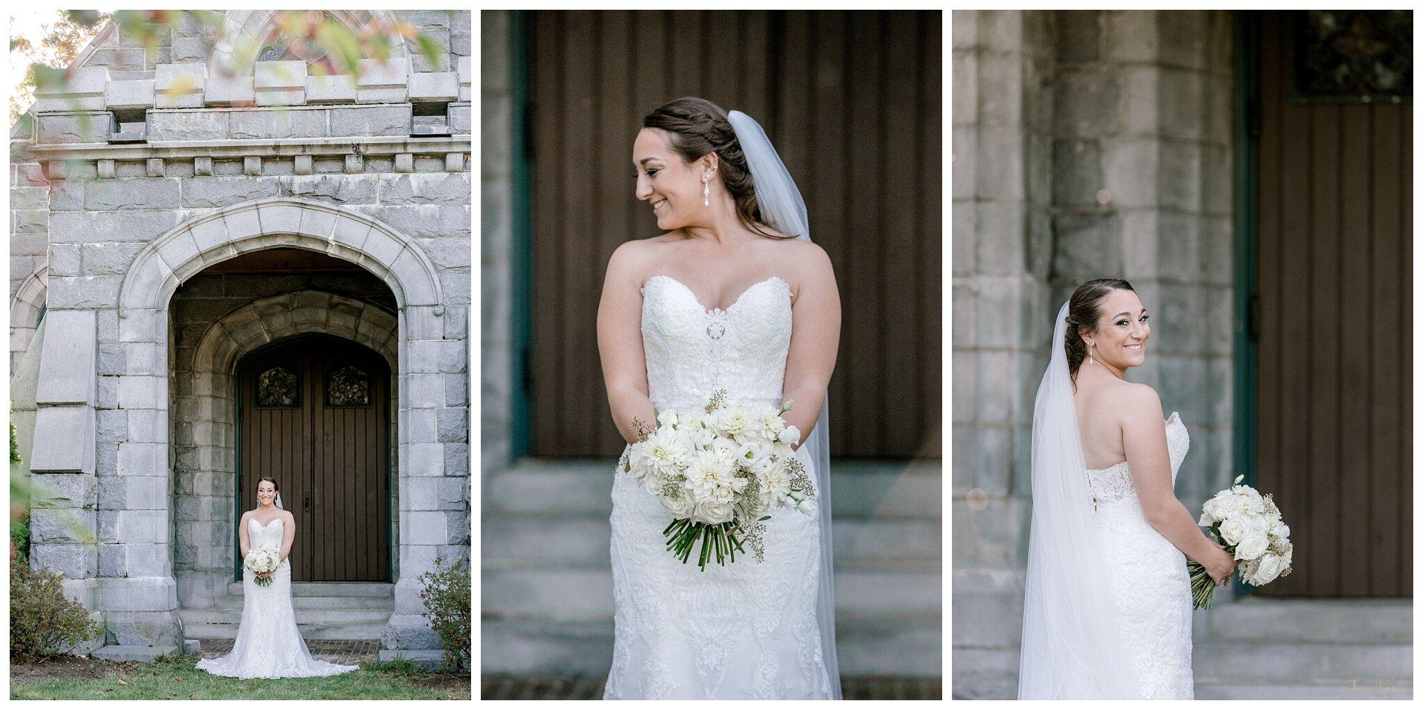 Bridal Portraits at Wilde Memorial Chapel