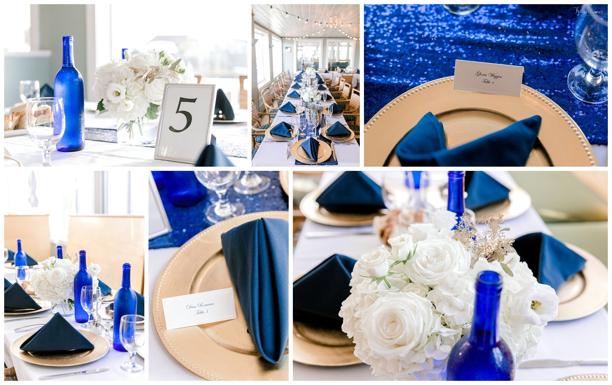 Maine Event Design and Decor at Saltwater Grille for a South Portland Wedding Reception