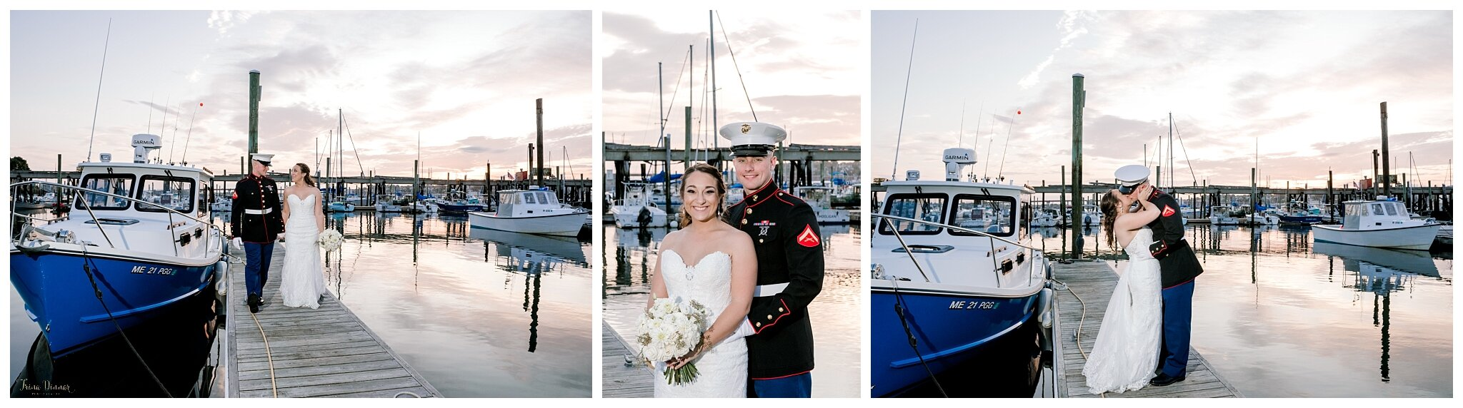 Portland Harbor Wedding Sunset Photography at Saltwater Grille