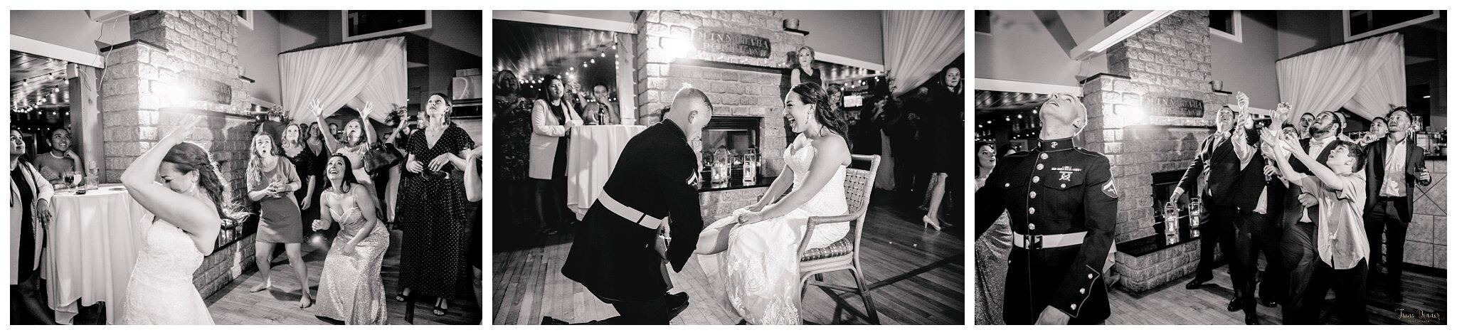 Bouquet and Garter Toss Portland Maine Wedding