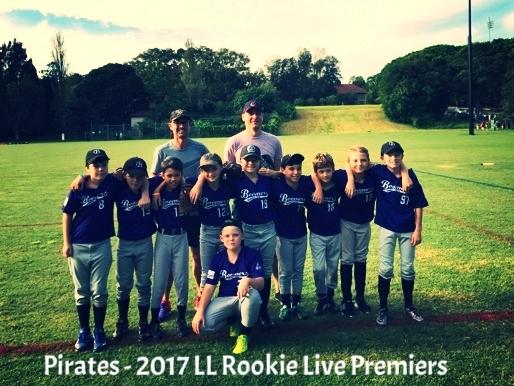 Pirates - 2017 LL Rookie Live Major Premiers