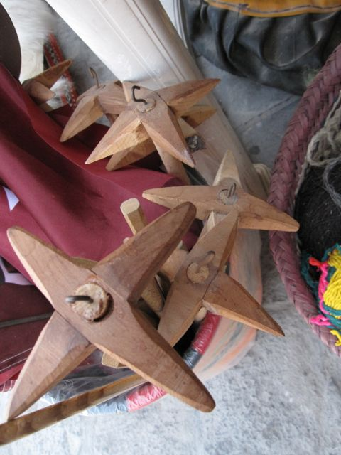 Spindles for sale in the market, Souq Waqif, Doha, Qatar