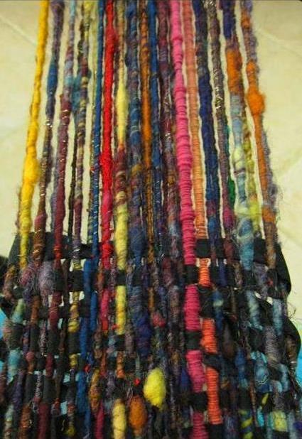 corespun and coil warp with kimono silk weft