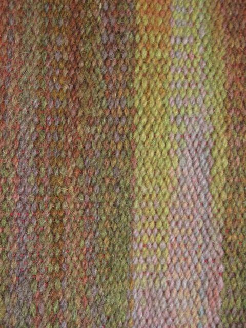 dyed warp detail