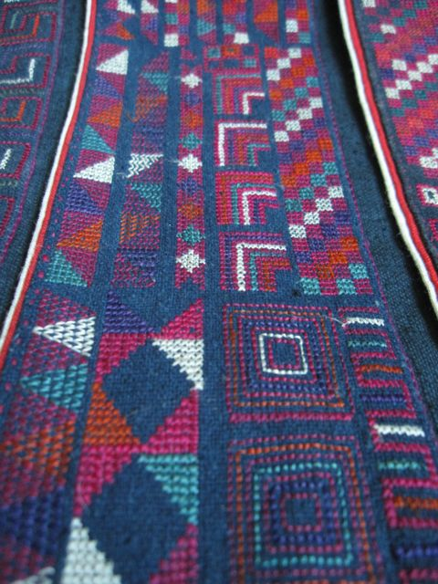 akha embroidery detail