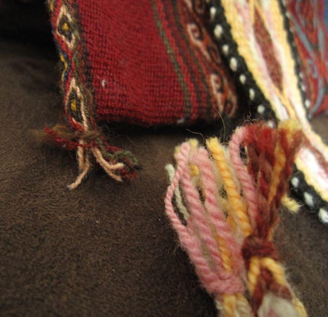 handspun handwoven detail