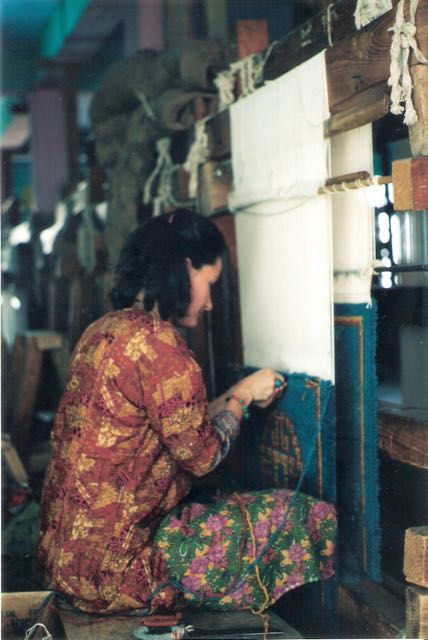 At work in Mc Leod Ganj, Dharamsala, India, 1994