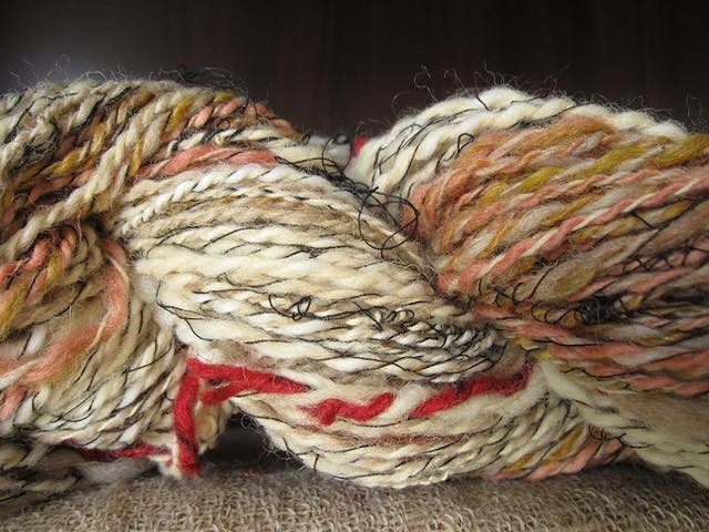 handspun yarn skein