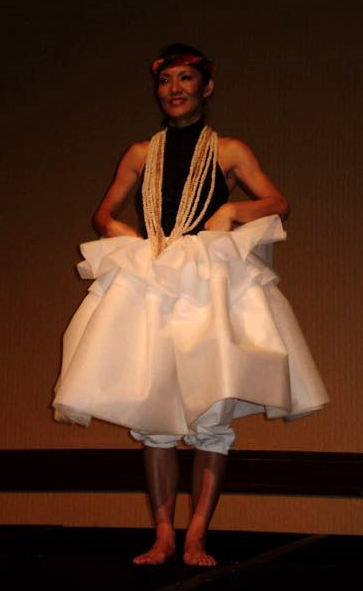 Hawaiian dancers use Pellon® non-woven interfacing to imitate the barkcloth that would have been worn in the past.