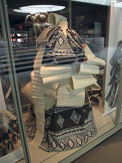 Fijian ceremonial dress made of Masa (barkcloth), UBC Museum of Anthropology.