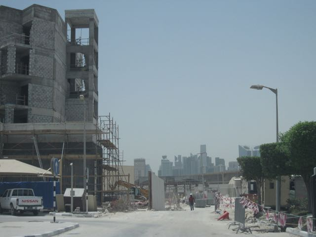Intercontinental Hotel, under construction.