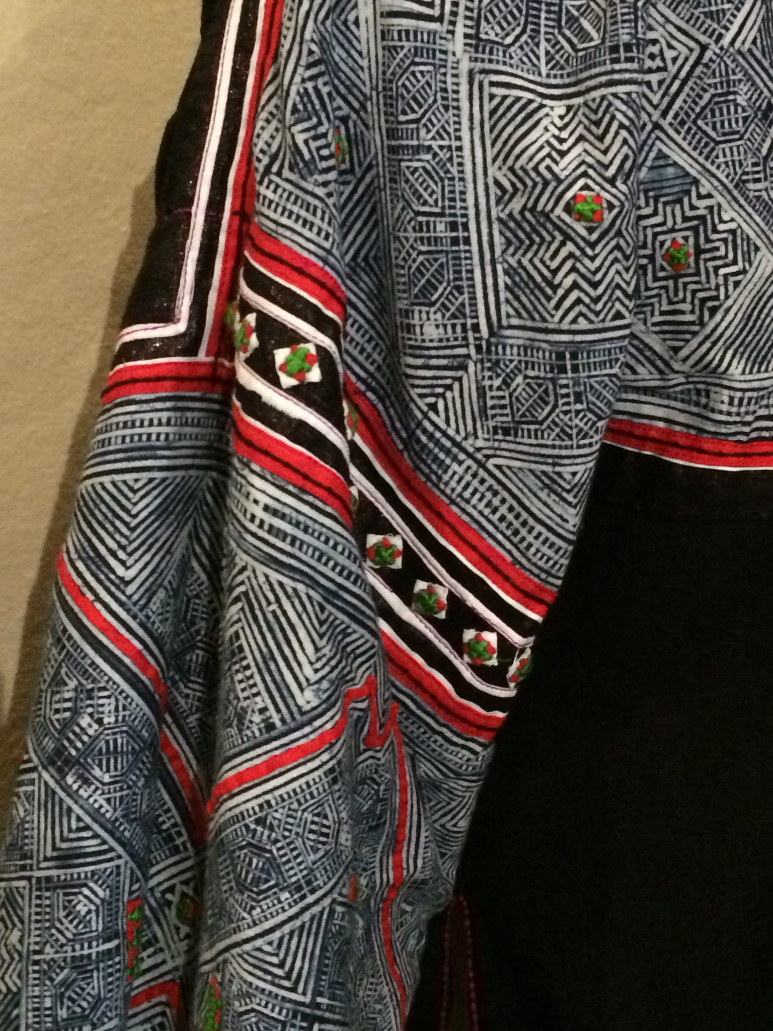 New jacket with batik sleeves.