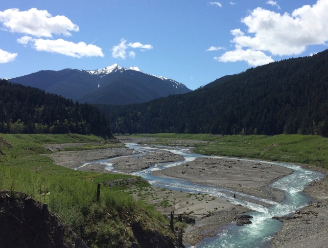 Glines Canyon Spillway Overlook, Elwha River, Olympic National Park