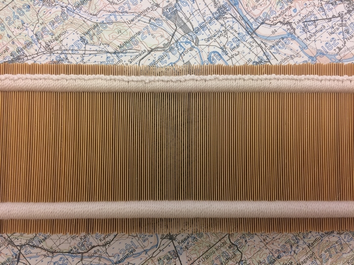My reed, finished and awaiting shoji paper along the edges.
