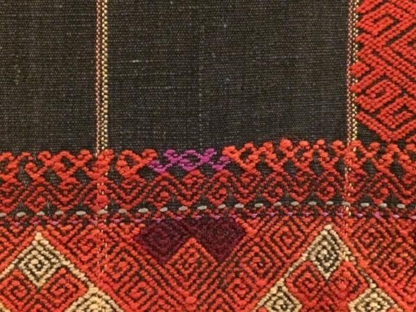 Burmese sarong, handwoven cotton.