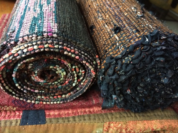 Need to work on tidying up that selvage, apparently… (actual Japanese weaving on left)