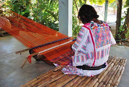 Amuzgo weaver, Oaxaca, Mexico.  Not my image  http://www.wikiwand.com/en/Amuzgo_textiles